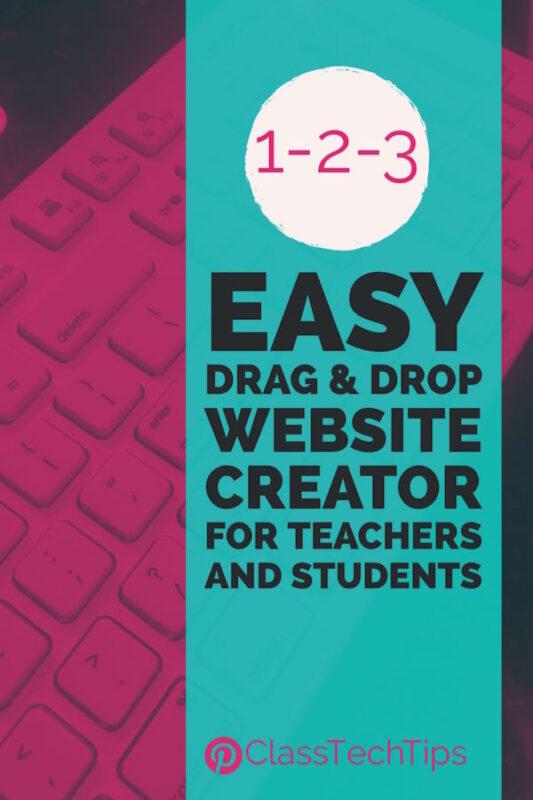 1 2 3 Easy Drag Drop Website Creator For Teachers And