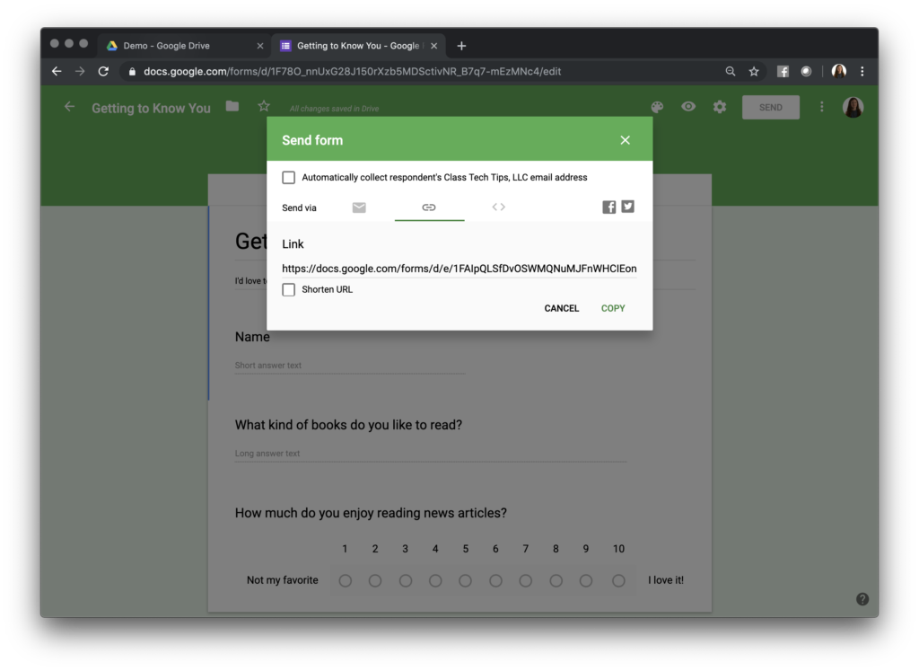 Tips Cara Share Google Form paling mudah