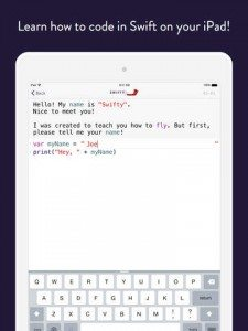 Try the Swifty App for iPad Coding Practice