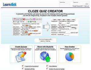 LearnClick Online Cloze Test Creator