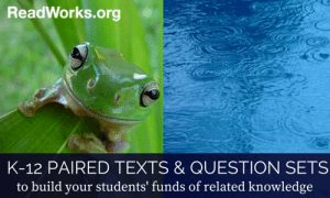 K-12 Paired Reading Passages & Questions Sets