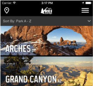 National Parks Guide & Maps Apps from REI 1