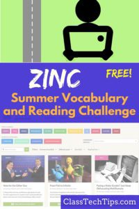 Zinc Free Summer Vocabulary and Reading Challenge