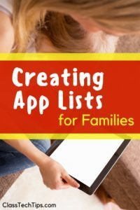 Creating App Lists for Families