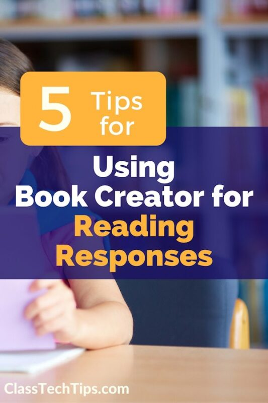5 tips for using book creator for reading responses for Plan book app