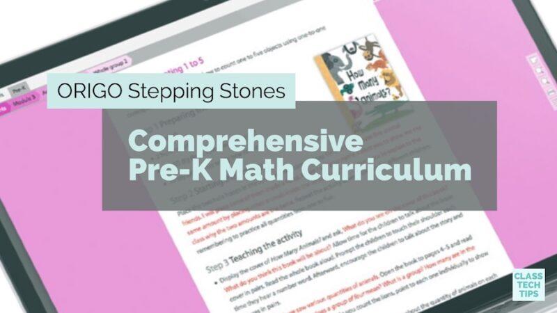 Origo Stepping Stones Comprehensive Pre K Math Curriculum Class