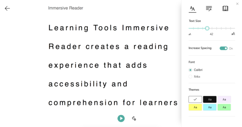 Microsoft Learning Tools in Action Immersive Reader