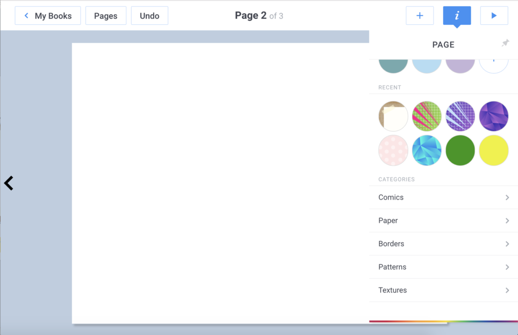New Page Layouts in Book Creator
