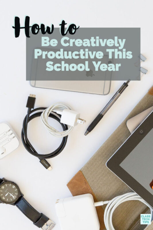 Producvitiy tips for teachers and students can help you have the best year yet! Lisa Johnson shares her new book Creatively Productive in this blog post.