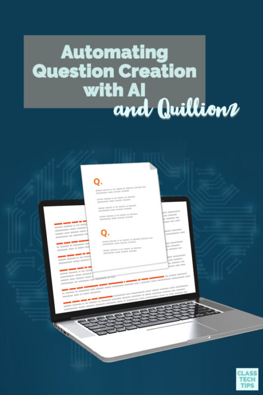 Learn how you can easily start automating question creation with a free quiz creator for teachers and school. This EdTech tool helps formative assessment.