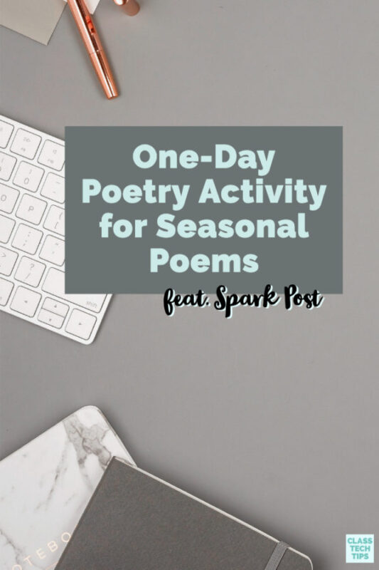 Any time of year is great for seasonal poems! A poem connected to the seasons is a wonderful way for students to apply creative writing skills.