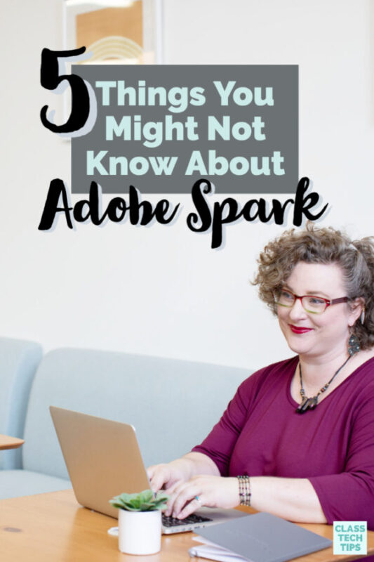 Have you used Adobe Spark with your students? If you're passionate about creativity in the classroom, you've probably heard of the Spark tools. They make movie-making, website creation, and graphic design possible for students.