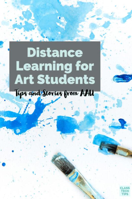 Hear tips for distance learning in an art program.