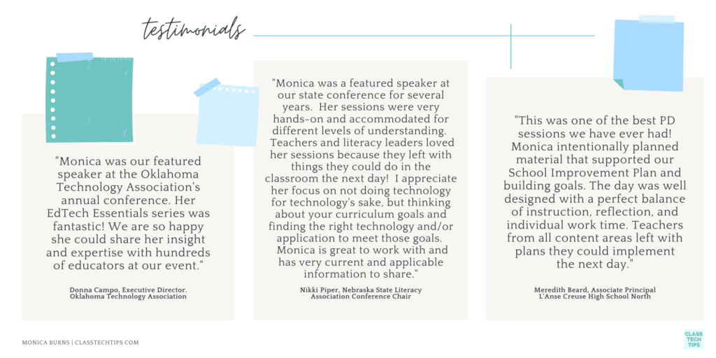 Monica Burns testimonials