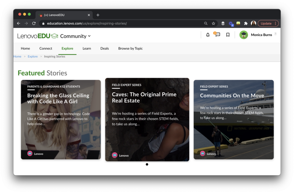 Find teacher tips and educational resources in the LenovoEDU Community