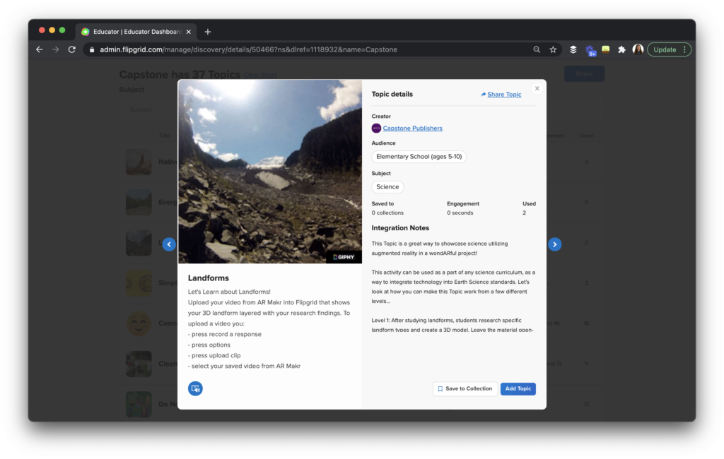 Learn how to use quick, creative reading responses with both Capstone Connect and Flipgrid.