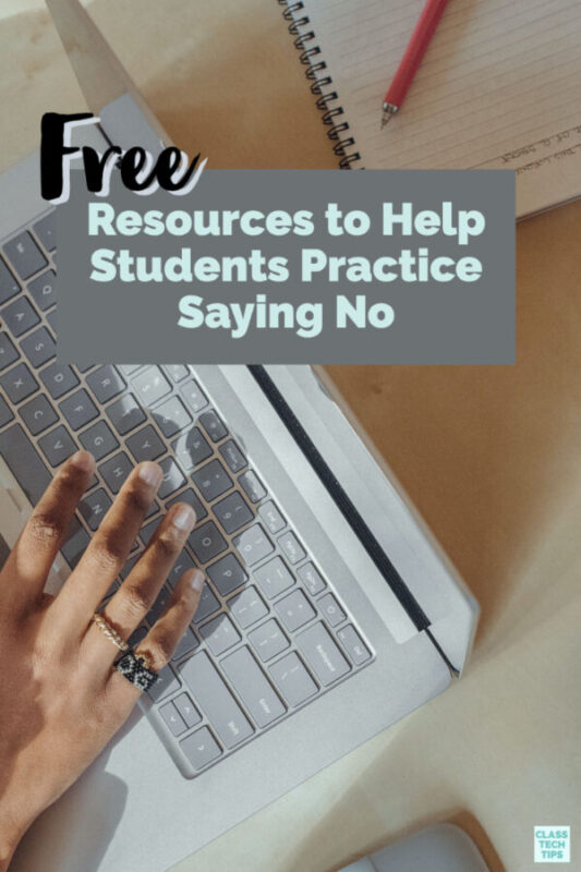 Help students learn how to say no with these free multimedia lessons and videos