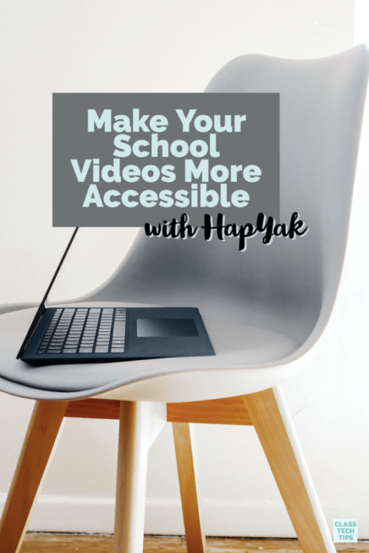 HapYak lets users upload school videos, add captions, place buttons on the screen, and so much more.