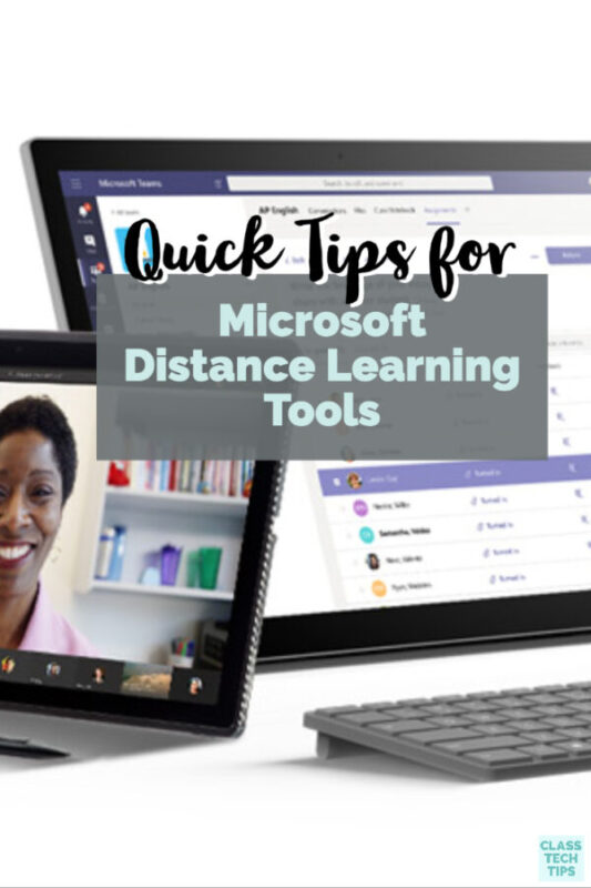 Learn how to support remote learning in your school. I've put together some resources and quick tips for using Microsoft distance learning tools.