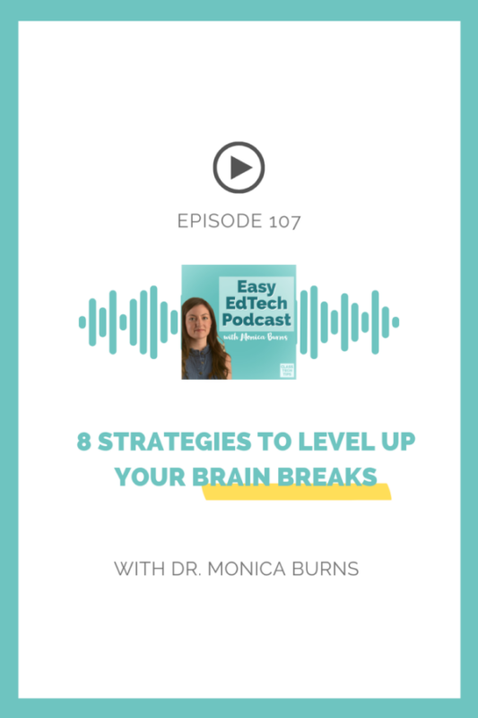In this episode, you'll learn what brain breaks are, why they work, and some activities that you can use with your class right away!