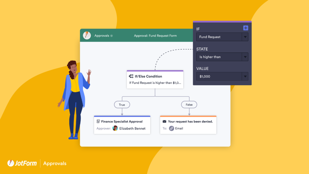 What if you could streamline your workflow, save time, and automate the steps to approve forms? JotForm Approvals has you covered!