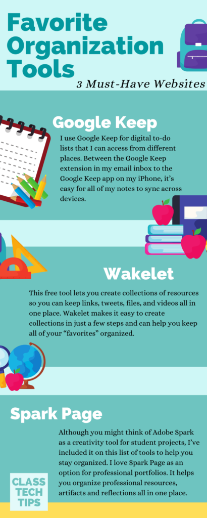 Learn about three of my favorite organizational tools for teachers and ways that you can use them to stay organized this school year.