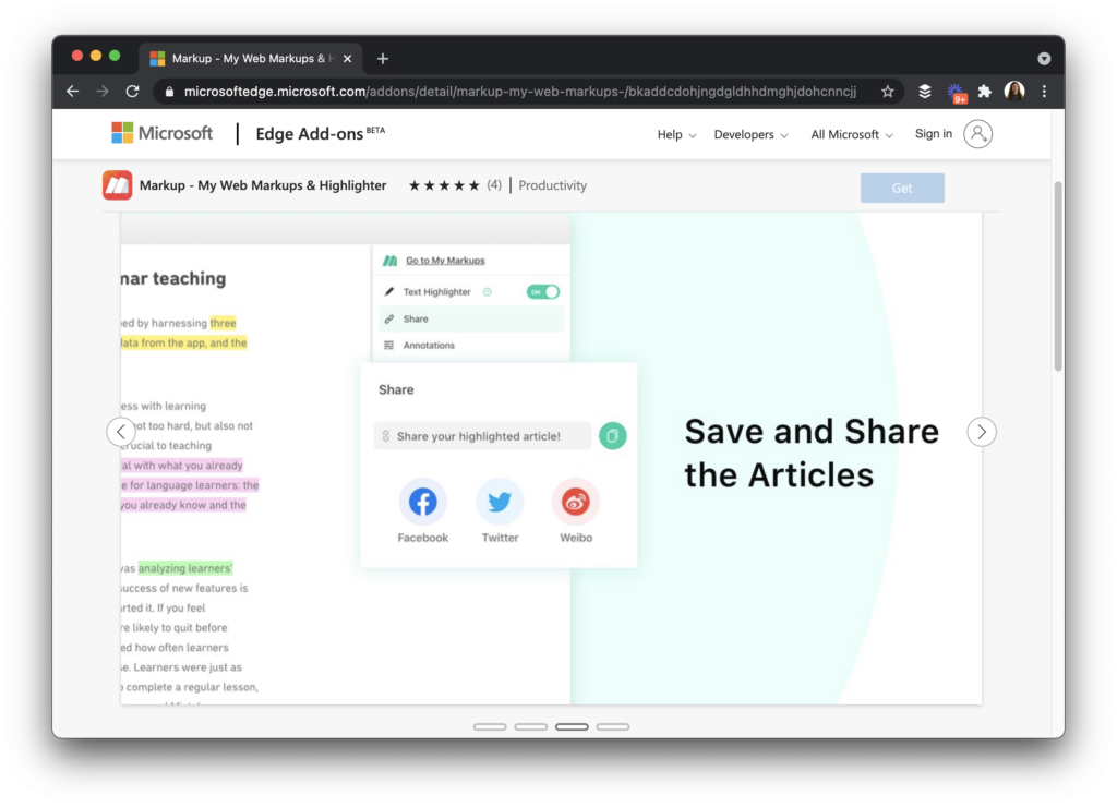 With the My Markup browser extension for Chrome and Microsoft Edge, you can view, highlight and share anything you come across on the web.