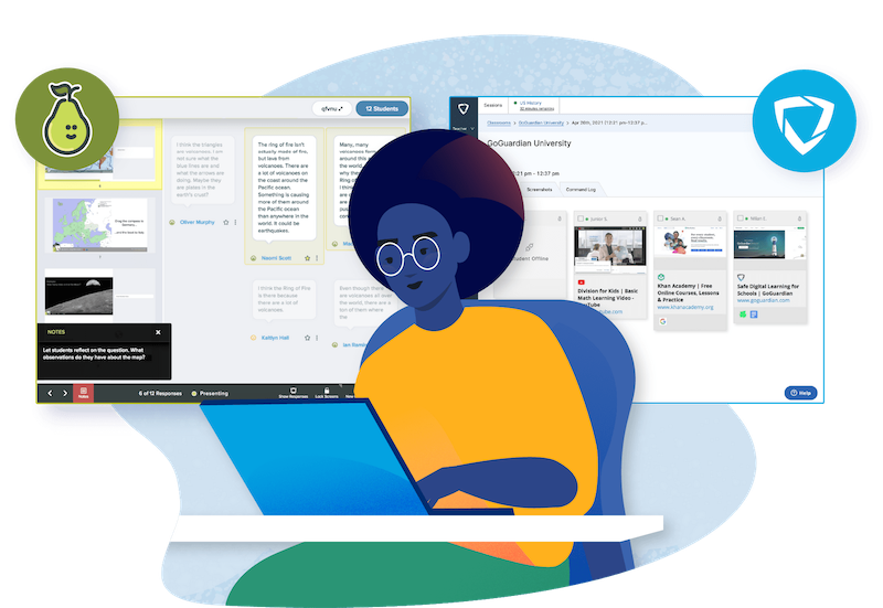 Are you looking for a powerful EdTech combo? The team at Pear Deck and GoGuardian have you covered with engagement and assessment tools.