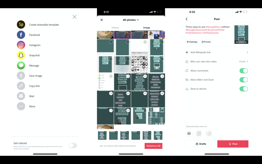 Learn how to make TikTok videos using Adobe Spark Post and the slideshow option. Follow the steps in this blog post to make it happen.