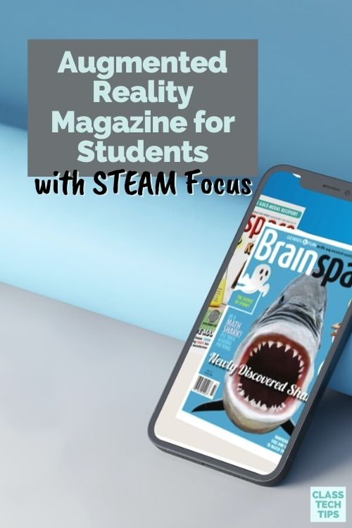 Brainspace is an augmented reality magazine designed specifically with kids and student readers of informational text.
