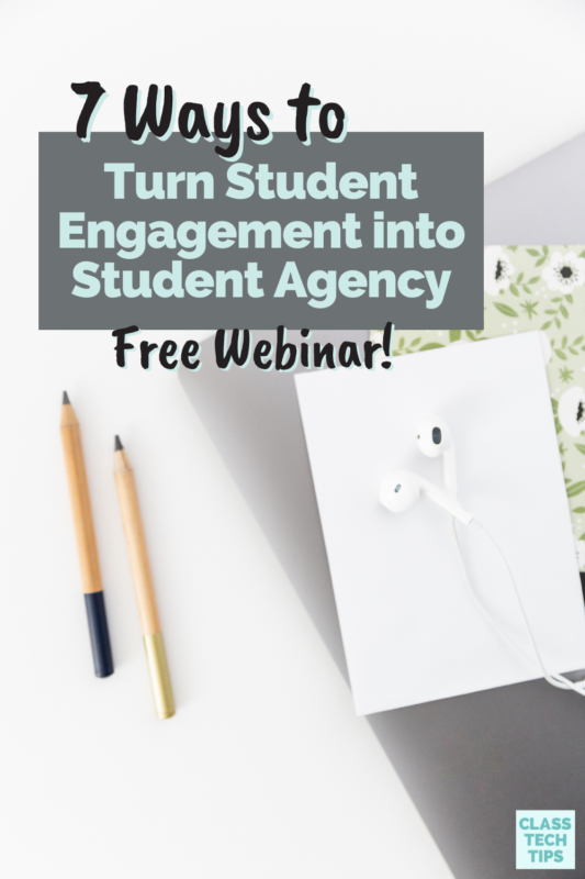Join me for a webinar on the connection between student engagement and student agency to create authentic learning experiences.