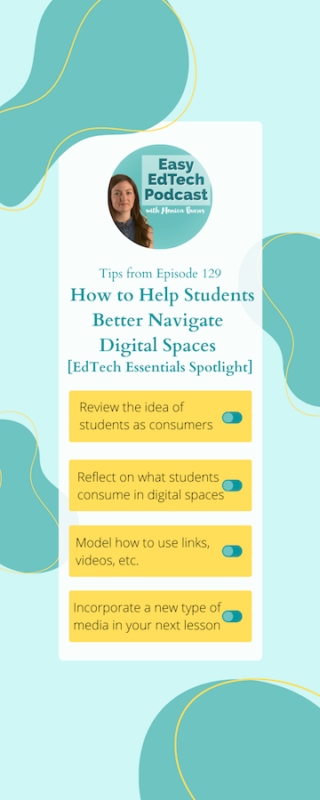 hear about the role of student consumers, the different types of media students come across in digital spaces, and favorite resources to help students build skills as navigators.