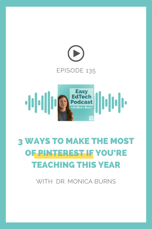 In this episode, I'll take you through three ways teachers can make the most of Pinterest this school year.