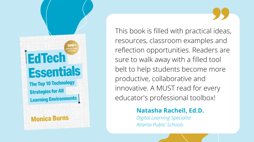 Learn about my new book EdTech Essentials: The Top 10 Technology Strategies for All Learning Environments with this behind-the-scenes look.